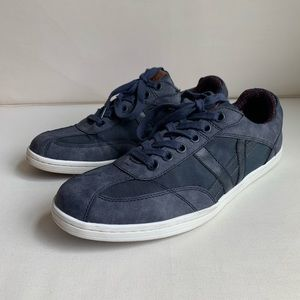 Ben Sherman Leather Nylon Lace up Casual Sneaker